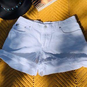 Polo Ralph Lauren White Denim Shorts